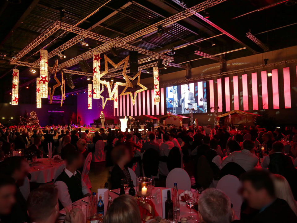 Businessevent mit Pansound LED-Wall